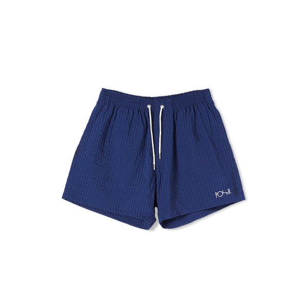 Seersucker Swim Shorts Blue