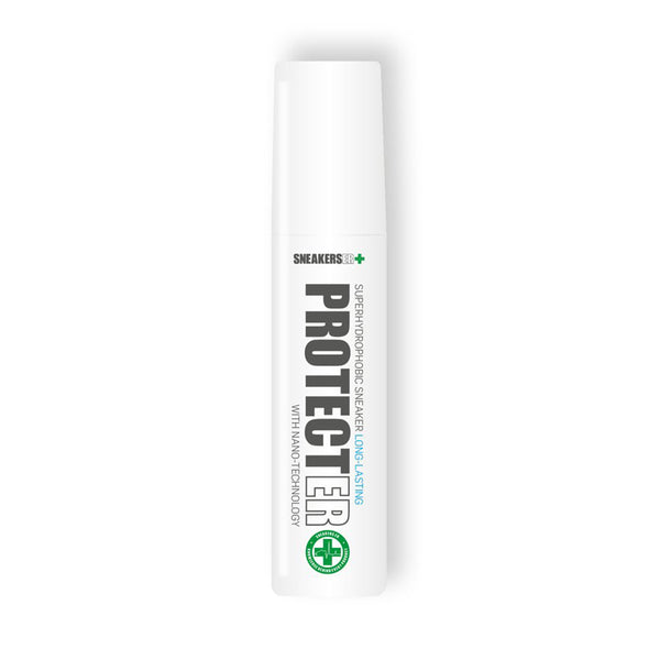 This product will create an invisible, solvent-free and long lasting protective barrier against most liquids.  For a better effect, it is recommended to apply it directly after purchasing the sneakers, as there will be no dust or stains yet.  Product code SERPRT005 Protector Superhydrophobic 75mL off the hook oth streetwear boutique canada montreal shoe care