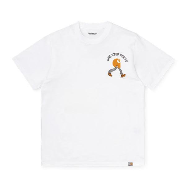 Carhartt WIP S / S Ahead T-Shirt Blanc devant disponible à off the hook montreal