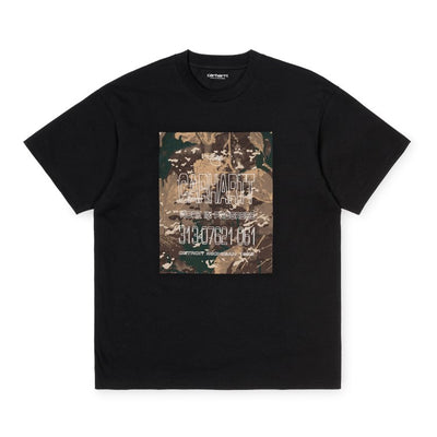 Carhartt WIP S/S Camo Mil T-shirt Black front available at off the hook montreal
