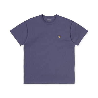 Carhartt WIP S/S Chase T-Shirt - Viola / Gold - Front - Off The Hook Montreal #color_viola-gold