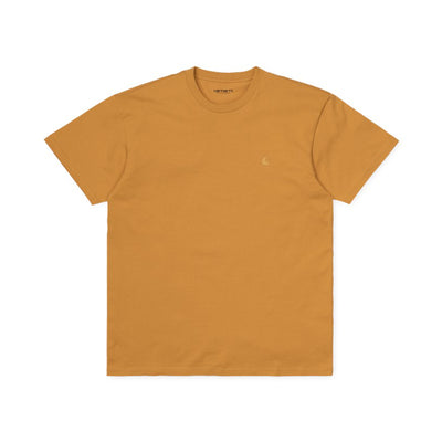 Carhartt WIP S/S Chase T-Shirt - Winter Sun/ Gold - Front - Off The Hook Montreal #color_winter-sun-gold