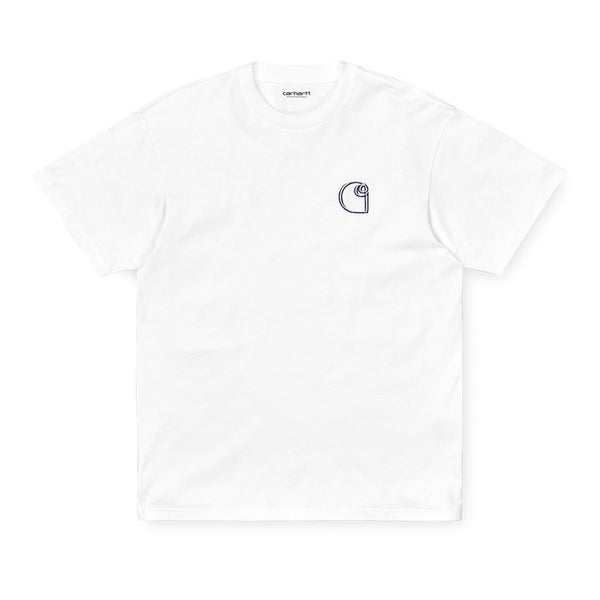 Carhartt I028460 S/S Commission Logo T-Shirt White front available at off the hook montreal