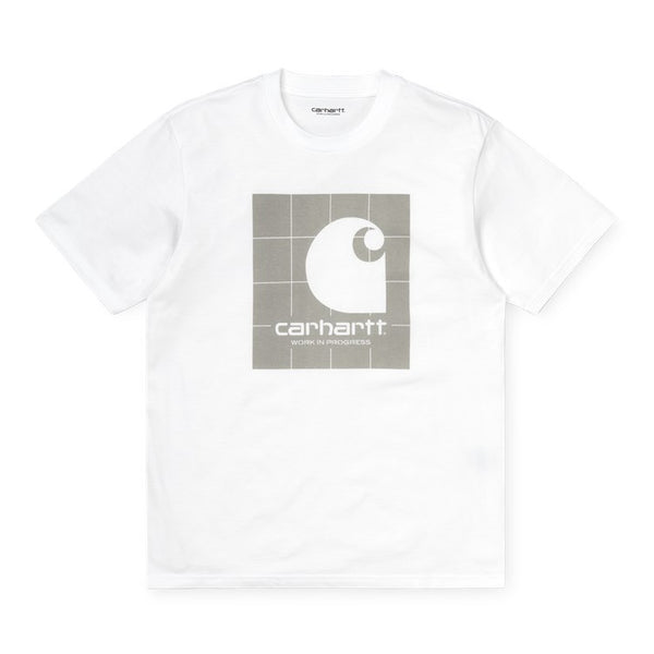 Carhartt WIP S / S Reflective Square T-Shirt White / Grey front disponible à off the hook montreal