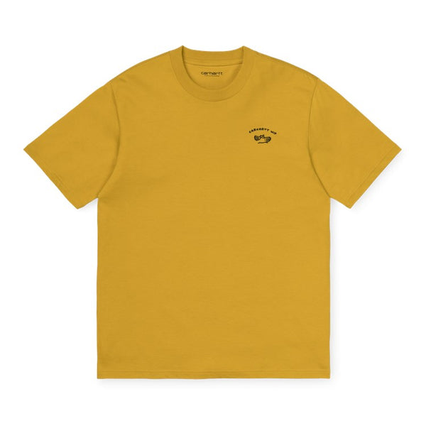 Carhartt WIP S / S Reverse Midas T-Shirt Colza / Black front disponible à off the hook montreal