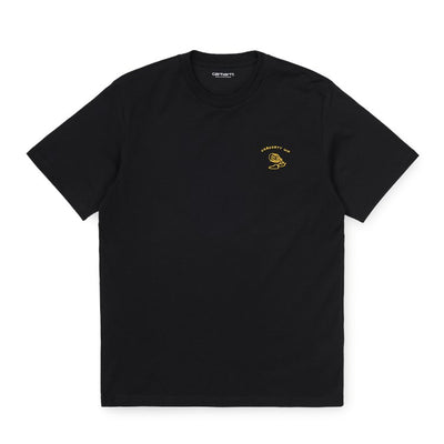 Carhartt WIP S/S Reverse Midas T-Shirt Black/Colza front available at off the hook montreal