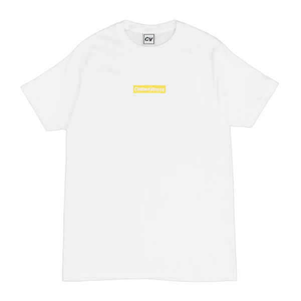 CINEMA VERITE Logo Box T-Shirt - White - Front - Off The Hook Montreal
