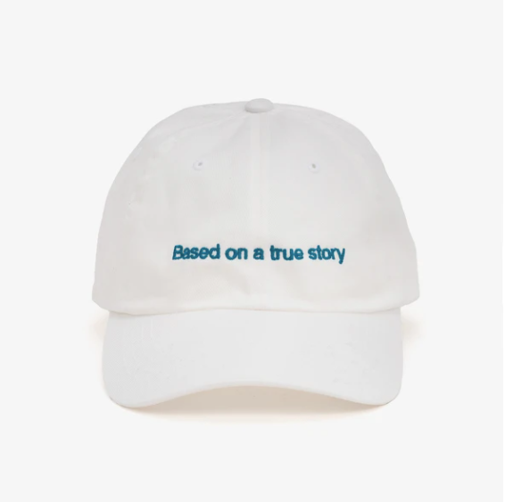 Casquette Base On A True Story Blanc