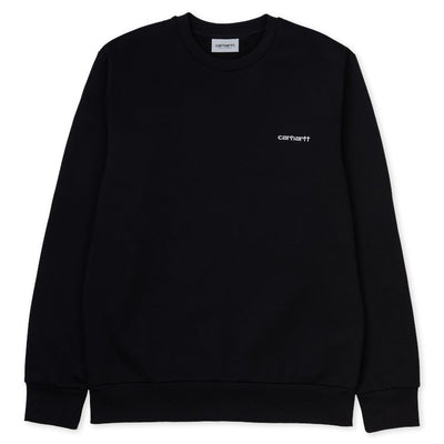 Carhartt WIP Script Sweatshirt - Black / White - Front - Off The Hook Montreal