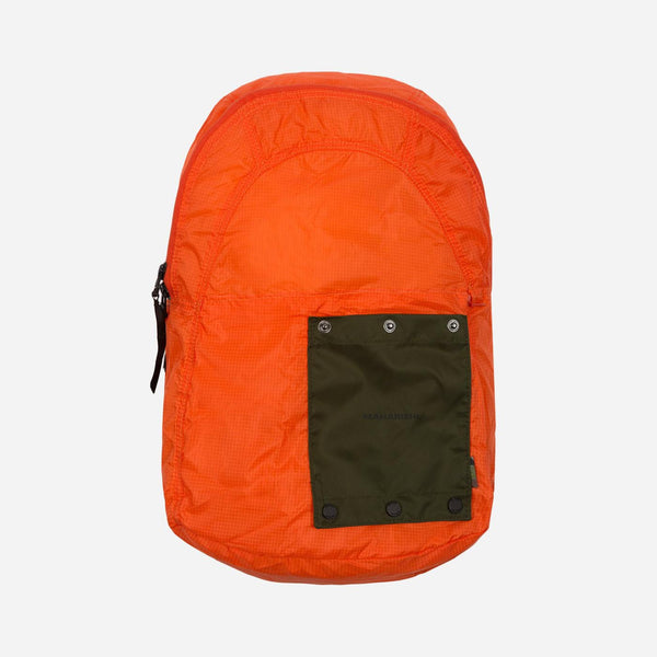 Maharishi Rollaway Backpack - Orange - Front - Off The Hook Montreal