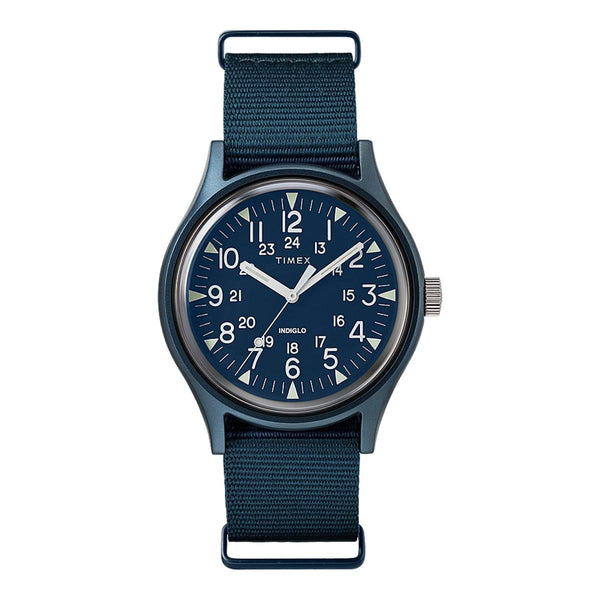 Timex MK1 Aluminum Blue - Front - Off The Hook Montreal