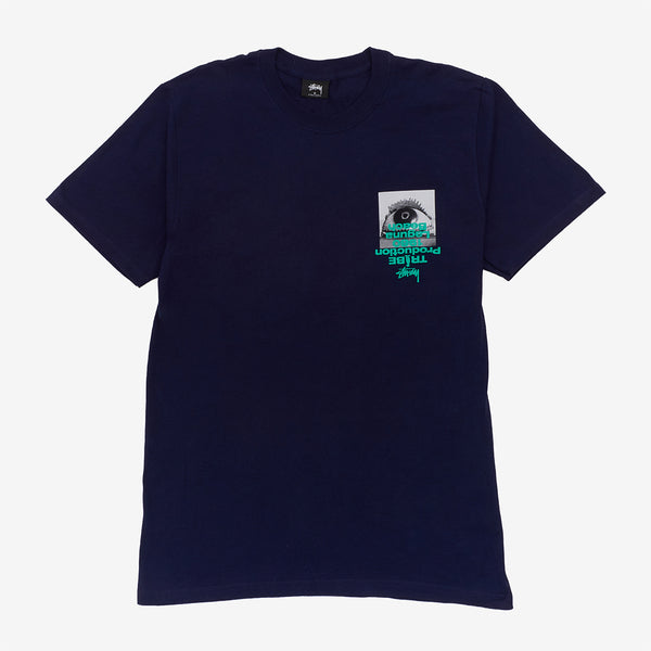 Stussy 1904587 Tribe Tee Navy front available at off the hook montreal