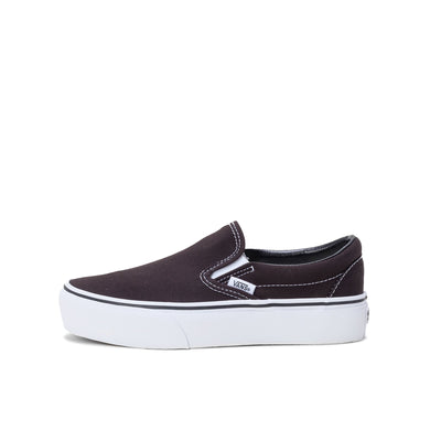 Vans Slip-On Platform - Black / White W - Side - Off The Hook Montreal