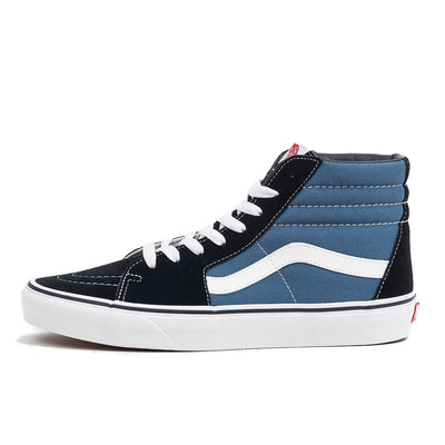 vans sk8-hi sk8 hi navy blue white u high top sneaker shoe skate streetwear off the hook oth unisex