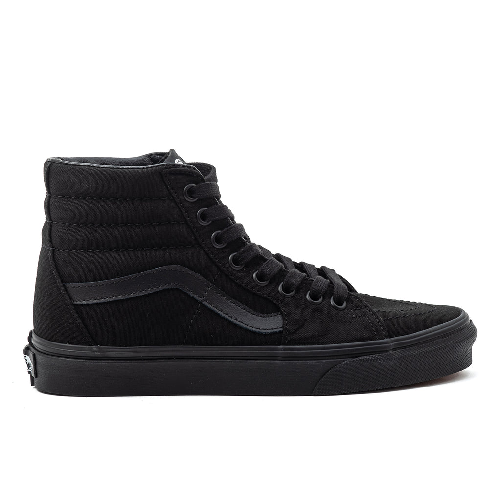 vans sk8-hi sk8 canvas triple true black u high top sneaker chaussure skate streetwear off the hook oth
