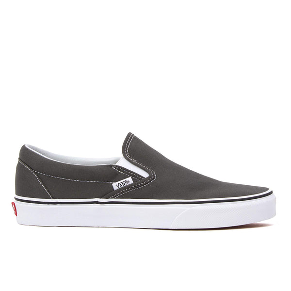 vans classic slip on charcoal grey white skate shoe sneaker streetwear off the hook oth