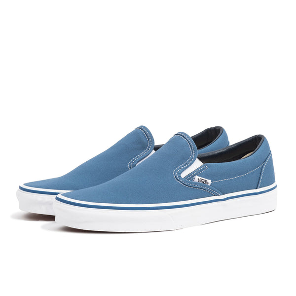 vans classic slip on navy blue white skate shoe sneaker streetwear off the hook oth unisex