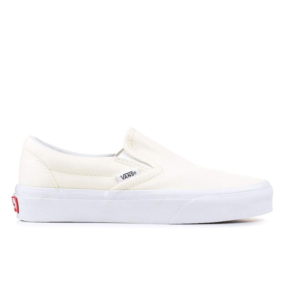vans classic slip on triple true cream white skate shoes sneaker streetwear off the hook oth