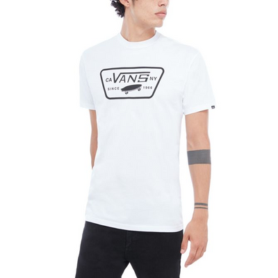 Vans Full Patch T-Shirt - White / Black -Front - Off The Hook Montreal