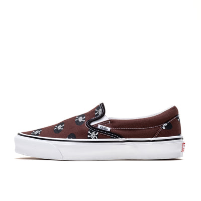 Vans x Wacko Maria OG Classic Slip-On LX - Brown/Records - Side - Off The Hook Montreal