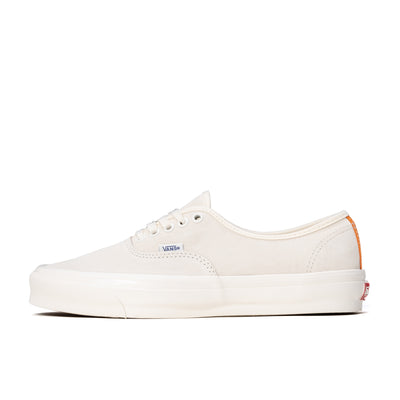 Vans Authentic LX - Antique White / Orange - Side - Off The Hook Montreal #color_antique-white-orange