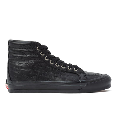 Vans OG Sk8 Hi LX Jim Goldberg - Black Leather - Side - Off The Hook Montreal