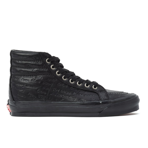 Vault par Vans OG Sk8 Hi LX par Jim Goldberg «Black Leather»