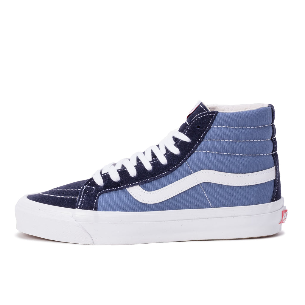 Vans VN0A4BVB5OC OG Sk8-Hi LX Navy / Navy U - side - disponible à off the hook montreal