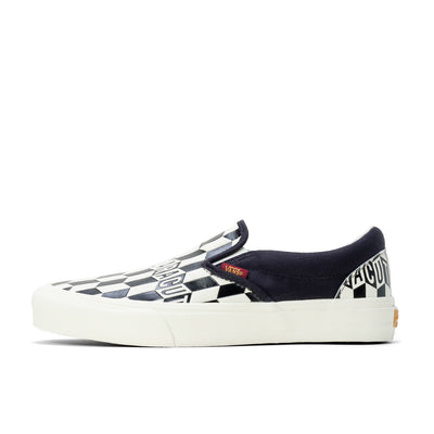 Vault x Baracuta Slip-On LX - Black / Checkerboard - Side - Off The Hook Montreal