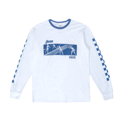 Vans x Penn LS Shirt - White - Front - Off The Hook Montreal