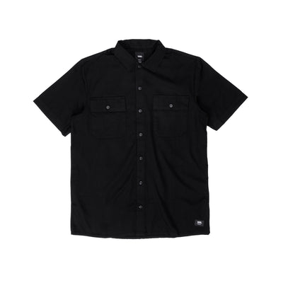 VN0A5463BLK Arcadia Short Sleeve Button Down T-Shirt - front - available at off the hook montreal #color_black