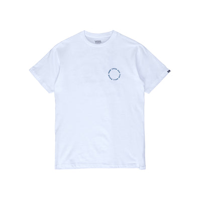 VN0A54CJWHT Gridlock Short Sleeve T-Shirt - men's  - front - white - available at off the hook montreal #color_white