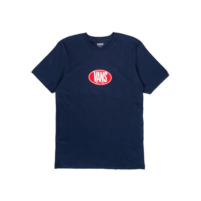 Vans Retro Oval S/S T-Shirt - Navy - Front - Off The Hook Montreal #color_dress-blues