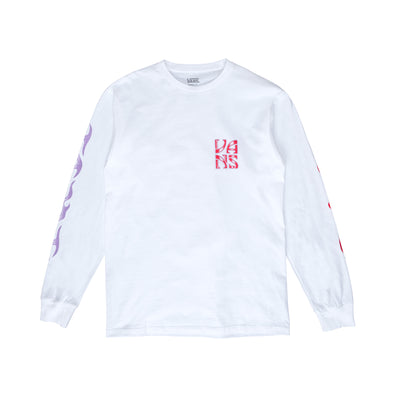 Vans Axed L/S T-Shirt - White - Front - Off The Hook Montreal #color_white