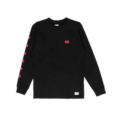 Vans Anaheim Lips Long Sleeve T-Shirt - Black - Front - Off The Hook Montreal