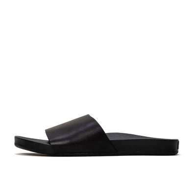 Vans Decon Slide - Leather Black - Side - Off The Hook Montreal