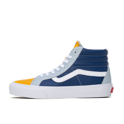Vans Sk8-Hi Reissue LX - Saffron / True Navy - Side - Off The Hook Montreal #color_saffron_true-navy