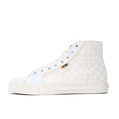 Vans UA M Th OG Style 24 LX - Checkerboard White / Cream - Side - Off The Hook Montreal