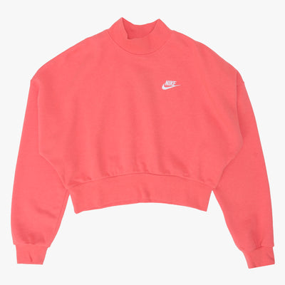 Nike Sportswear Essential Mock Neck - Red / White - Front - Off The Hook Montreal