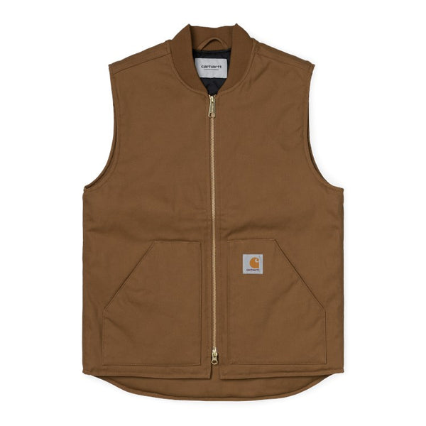 Carhartt I028423 Vest Hamilton Brown front available at off the hook montreal