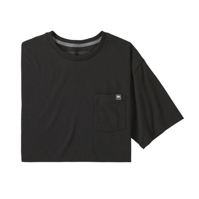Patagonia M Flying Fish Label Pocket Responsibili.Tee Black front available at off the hook montreal