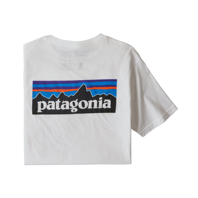 Patagonia 38535 P-6 Logo Organic T-Shirt White back available at off the hook montreal