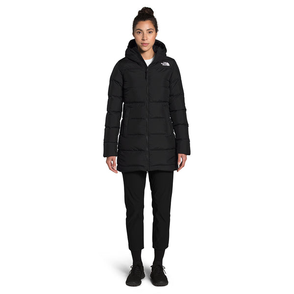 The North Face NF0A4R31 W Gotham Parka Black front available at off the hook montreal