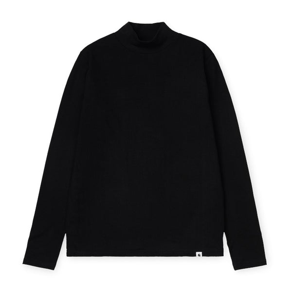 Carhartt WIP W' L/S Seri T-Shirt Black front available at off the hook montreal