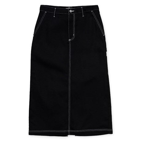 Carhartt WIP W' Pierce Skirt Leather front available at off the hook montreal