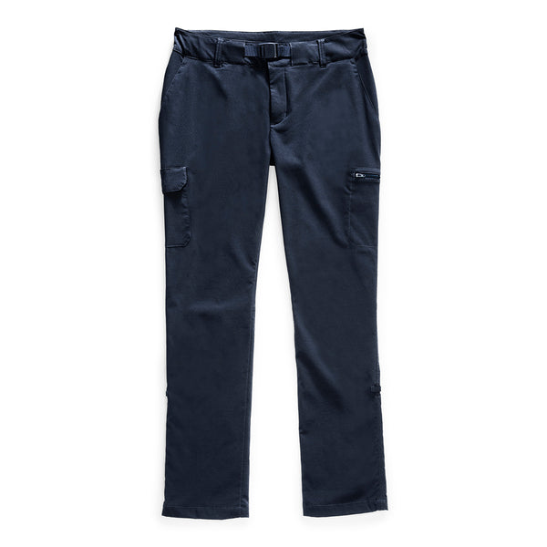 The North Face NF0A4ASF Women's Paramount Mid-Rise Pant Urban Navy front flat available at off the hook montreal