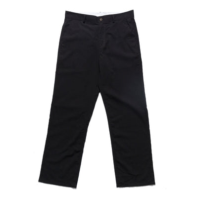 These seersucker pants from Chrystie NYC come in a lightweight cotton construction. The black colorway has a relaxed fit, with button closure for the waist, as well as the back pockets. Minimalist branding is stitched over the right back pocket. Now at OTH