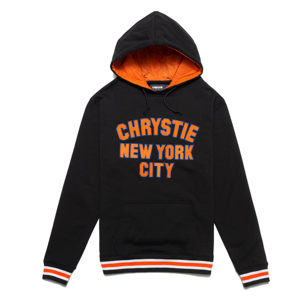 Chrystie 20FWHDVAR-BLK Varsity Logo Hoodie Black front available at off the hook montreal