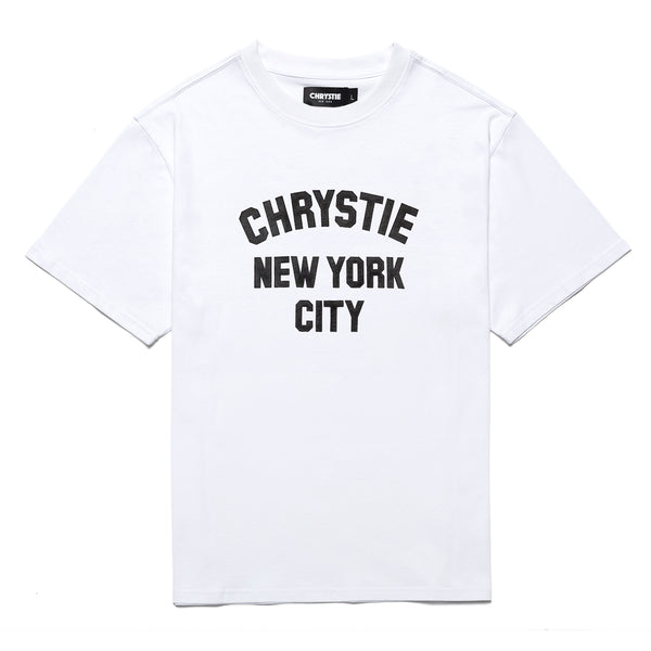 Chrystie CHRYSTIEFA2008-WHT Varsity Logo T-Shirt White front available at off the hook montreal