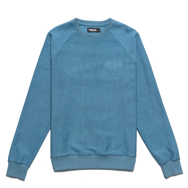 Chrystie CHRYSTIEFA2009-STNBLU Reversed Terry Crewneck Stone Blue front available at off the hook montreal